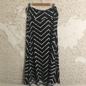 Lularoe Black & White Chevron Maxi Skirt